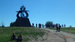 Der er mange pilgrimme ved Monto do Gozo